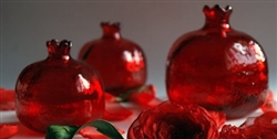 Armenian Glass Pomegranate SMALL