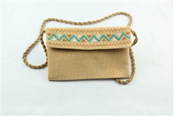 Embroidered Mini Shoulder Bag - Gray