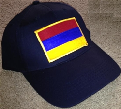 Armenia Flag Golf Cap - Black