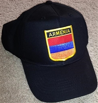 Armenia Flag Golf Cap 2 Black