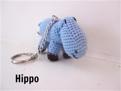 Animal Keychain - Hippo
