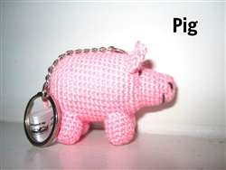 Animal Keychain - Pig