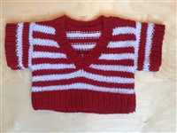 Sweater - Large - Red Stripes