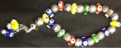Multicolor Evil Eye Worry Beads