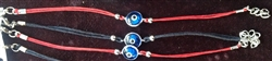 1 LightBlue Evil Eye Stringed Bracelet Black String