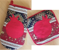 Pomegranate Oven Mitts & Hotplates