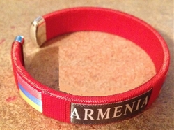 Armenian Embroidered Bracelets RED