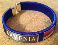 Armenian Embroidered Bracelets BLUE