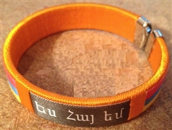 Armenian Embroidered Bracelets Orange