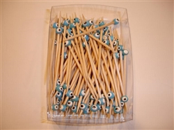 Evil Eye Toothpicks Light Blue