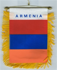 Mini Banner Armenia; Car Windshield, Window or Mirror