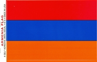 "Armenian Waterproof Vinyl Flag Decal Stickers 3.5"" x 5"""
