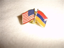 ArmenianAmerican Flag Pin
