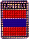 Armenia prismatic reflective decal stickers
