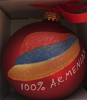 Armenian 100% - Small RED Ornament