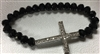 Armenian Cross Bracelet - Black