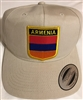 Armenia Flag Golf Cap 2- Beige