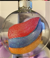 Armenian Flag - Large Clear Ornament