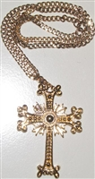 Armenian Gold Plated Cross with Chain