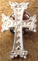 Armenian Silver Cross Lapel Pin