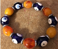 Elasic Bracelet - Blue Orange