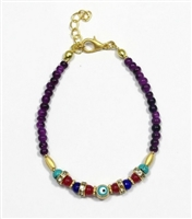 Evil Eye Purple Bracelet