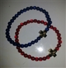 Resin Prayer Rope Bracelet with RED beads