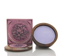 Trumper's Violet Hard Shaving Soap in Wooden Bowl 80g