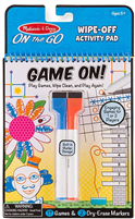 Melissa & Doug Wipe Off Activity Pad - Game On