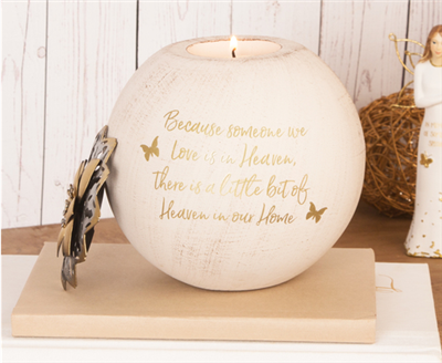 "Heaven - 5"" Round Tea Light Candle Holder"