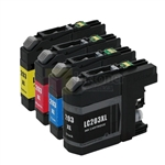 Brother LC203 XL New Compatible 4 Color Ink Cartridges Combo High Yield