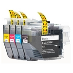 Brother LC3029 XL 4 Color Ink Cartridges Combo Super High Yield