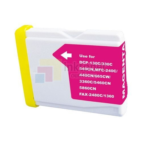 1 MAGENTA LC51  LC51M LC-51 LC 51 LC51 Compatible Ink Cartridge LC51M