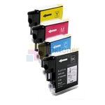 Brother LC61 New Compatible 4 Color Ink Cartridges Combo