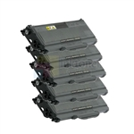 Brother TN-360 New Compatible Black Toner Cartridges 5 Pack Combo