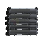 Brother TN-660 New Compatible Black Toner Cartridges High Yield 5 Pack Combo