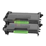 Brother TN-880 New Compatible Black Toner Cartridges 2 Pack Combo Super High Yield