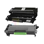 Brother TN-880 New Compatible Black Toner Cartridge Super High Yield/ Brother DR-820 Compatible Drum Unit 2 Pack Combo