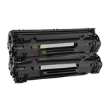 Canon 125 (3484B001AA) New Compatible Black Toner Cartridges 2 Pack Combo