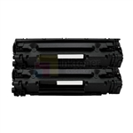 Canon 128 (3500B001AA) New Compatible Black Toner Cartridges 2 Pack Combo