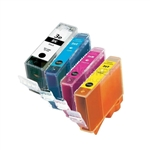 Canon BCI-3eBK/C/M/Y New Compatible 4 Color Ink Cartridges Combo