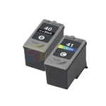 Canon PG-40/CL-41 Remanufactured Black & Color Ink Cartridges Combo