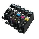 Canon PGI-225BK and CLI-226BK/C/M/Y New Compatible 5 Color Ink Cartridges Combo