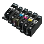 Canon PGI-225BK and CLI-226BK/C/M/Y/GY New Compatible 6 Color Ink Cartridges Combo