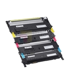 Dell 330-3015/14/13/12 Remanufactured 4 Color Toner Cartridges Combo