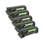 Dell 331-9805 (C3NTP) New Compatible Black Toner Cartridges 5 Pack Combo High Yield