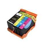 Dell Series 24 330-5287/88 New Compatible Black & Color Ink Cartridges Combo High Yield