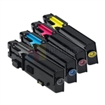 Dell 593-BBBU/BBBT/BBBS/BBBR New Compatible 4 Color Toner Cartridges Combo