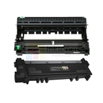 Dell 593-BBKD (P7RMX) New Compatible Black Toner Cartridge/ Dell 724-BBJS (WRX5T) Compatible Drum Unit 2 Pack Combo