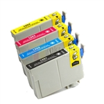 Epson 125 New Compatible 4 Color Ink Cartridges Combo